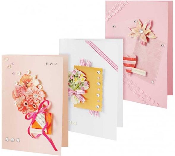 Набор для создания 3-х открыток Белоснежка Симфония набор для создания открыток мишки 3 шт
