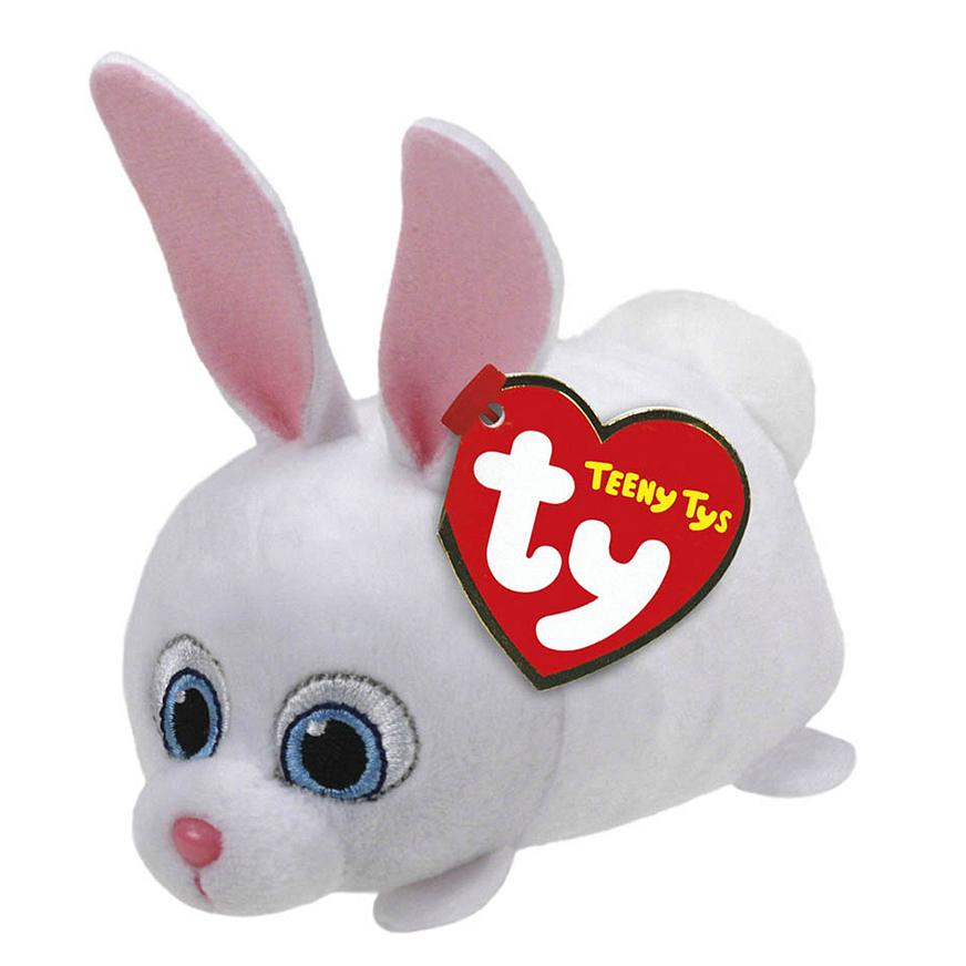 Teeny Tys Кролик Снежок, герой м/ф Тайная жизнь домашних животных, 11х7х5смМягкая игрушка Кролик Снежок от торговой марки Ty Inc выполнена в виде героя анимационного фильма Тайная жизнь домашних животных.Снежок - самый яркий и запоминающийся персонаж. Милый пушистый кролик обладал неоднозначным характером: он был способен притвориться лапочкой, если это отвечало его интересам. Но, как известно, добро всегда побеждает зло: безрассудный злой гений в конце мультфильма The Secret Life Of Pets становится ласковым домашним любимцем.Очаровательный кролик непременно понравится малышу и станет главным персонажем увлекательных сказочных сюжетов.<br>