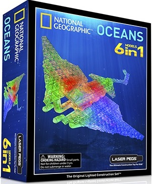 Конструктор Laser Pegs Nat Geo ОкеанLaser Pegs Гео Океан NG100 - это уникальный конструктор, который поможет вашему ребенку самостоятельно собрать настоящих морских жителей. Некоторые детали оснащены специальными светодиодами. Кроме того, играя с таким конструктором, у детей развивается воображение. Laser Pegs Гео Океан NG100 изготовлен из высококачественных материалов.<br>