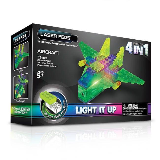 Купить Конструктор Laser Pegs Набор 4 В 1 Серия Mps. Аэропланы