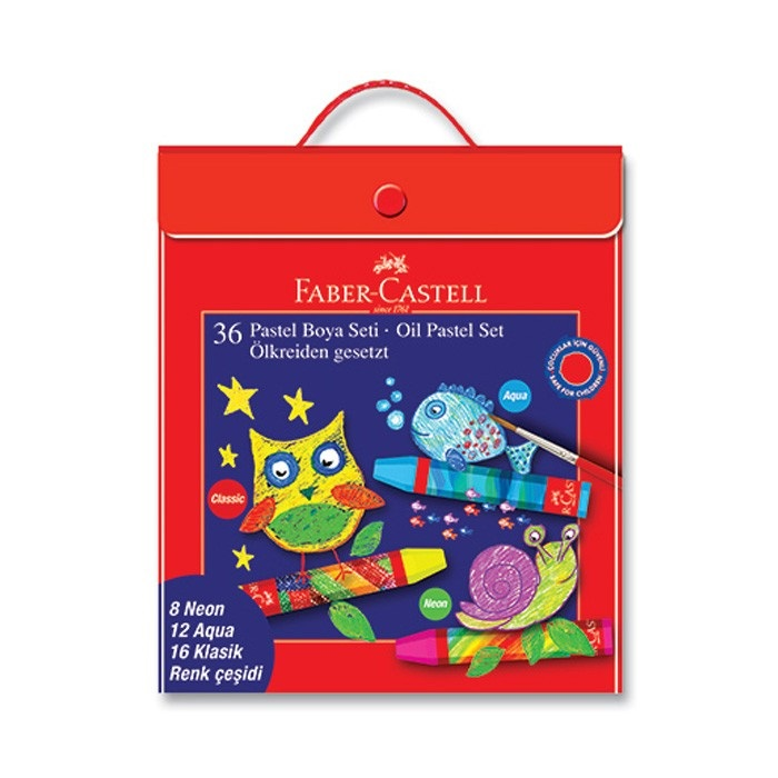 Пастель масляная Faber-Castell 125340 36цв. пласт.коробка пастель масляная faber castell studio quality 136 пурпурный фиолетовый