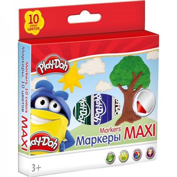 Фломастеры Play-Doh 10 цвФломастеры идеально подходят для детского творчества.Рисование фломастерами способствует развитию творческого мышления, мелкой моторики рук, цветового восприятия, фантазии и воображения ребенка.Толщина стержня: 14 мм.Высококачественный нетоксичный пластик, нейлоновый стержень, прочный утолщенный наконечник, сочные цвета, увеличенное содержание чернил, улучшенный пишущий узел.Утолщенная форма корпуса прививает навык правильно держать пишущий инструмент.Набор упакован в картонную коробку в европодвесом.В упаковке 10 цветных фломастеров.<br>