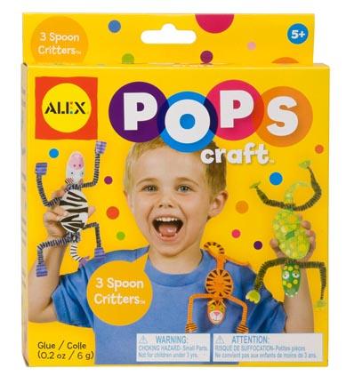 Набор для творчества POPS CRAFT 3 веселые зверюшкиНабор для творчества 3 веселые зверюшки. Сделайте 3х забавных зверюшек, из обычных ложек. В наборе: 3 пластиковые ложки, 80 наклеек, 10 бумажных заготовок, 6 цветных заготовок чтобы сделать подвижные ручки и ножки, клей и простая инструкция. Веселое и интересное занятие для малышей, - развивает фантазию и мелкую моторику.<br>