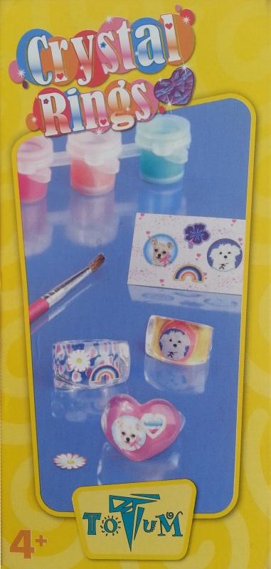 Набор для творчества Totum Mini crystal ringsМини набор для изготовления колечек. В комплекте: 3 колечка, набор красок-3 цвета, наклейки, кисть, пошаговая инструкция.Готовые колечки ярко сияют и переливаются на солнце.<br>