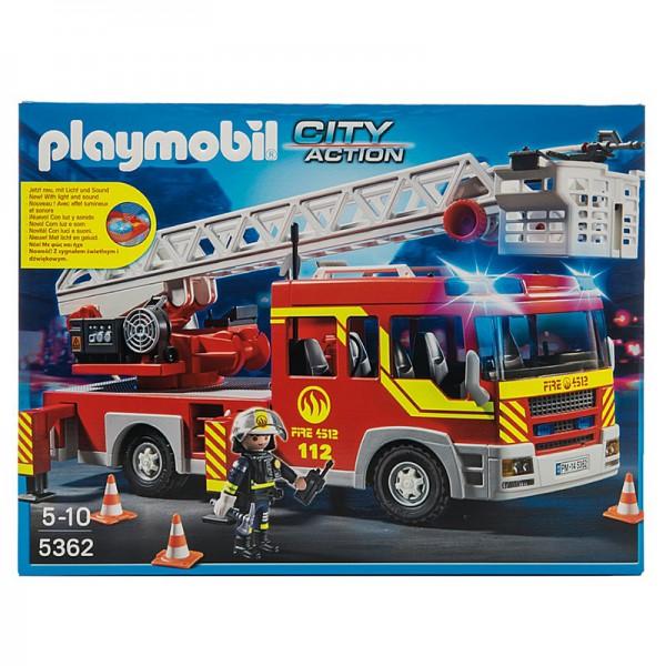 Конструктор Playmobil 5362pm Пожарная машина со светом и звуком набор playmobil пожарная служба пожарная машина со светом и звуком 28 см красный 5363