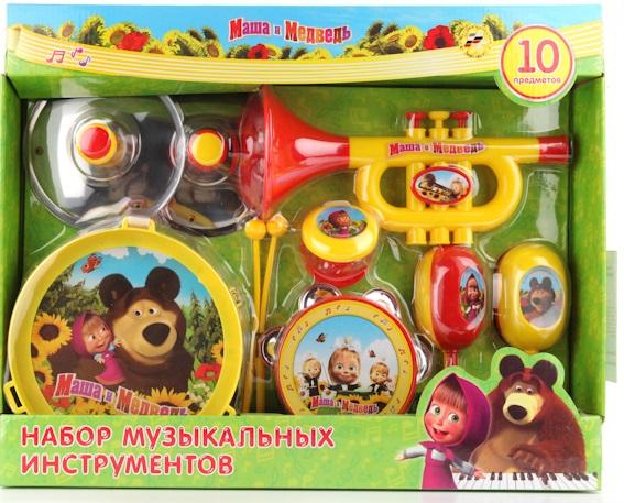 Набор музыкальных инструментов Играем вместе Маша и медведь набор музыкальных инструментов играем вместе маша и медведь