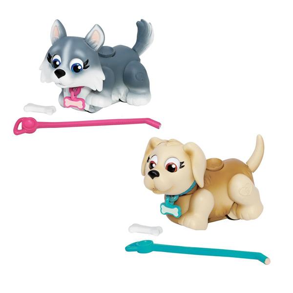 Игрушка Pet Parade Фигурки собачек в комплекте с косточками и поводком, ассорт.