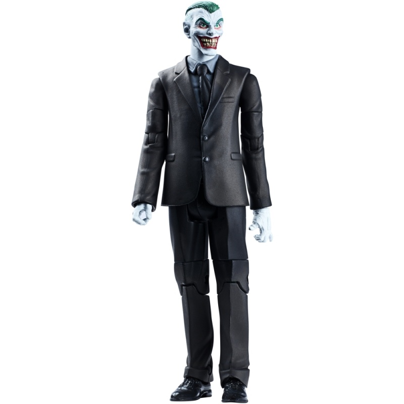 Фигурка DC Comics Multiverse - ДжокерФигурка Multiverse из серии DC Comics от производителя Mattel изображает одного из персонажей из серии комиксов о супергероях. Игрушка выполнена в виде фигурки Джокера, одетого в стильный черный костюм. На лице Джокера застыла широкая и очень недобрая улыбка, которая стала его визитной карточкой.По сюжету комиксов, Джокер - король преступного мира, державший в страхе весь город Готэм. На защиту города встает супергерой Batman. Это длительное противостояние светлых и темных сил никогда не приведет к победе одной из сторон. Темные улицы Готэма извечно будут полны преступников, следующих за Джокером.Фигурка Джокера позволит ребенку оживить персонажей комиксов и придумать собственную линию развития событий в этой захватывающей истории о героях и злодеях. А также замечательная фигурка может стать частью фанатской коллекции.Возраст: от 4 летГерой: СупергероиДля мальчиков и девочекКомплектация: фигурка, аксессуары.Материалы: пластик.Размер упаковки: 25.4 х 15.2 х 5.7 см.Высота фигурки: 15 см.<br>