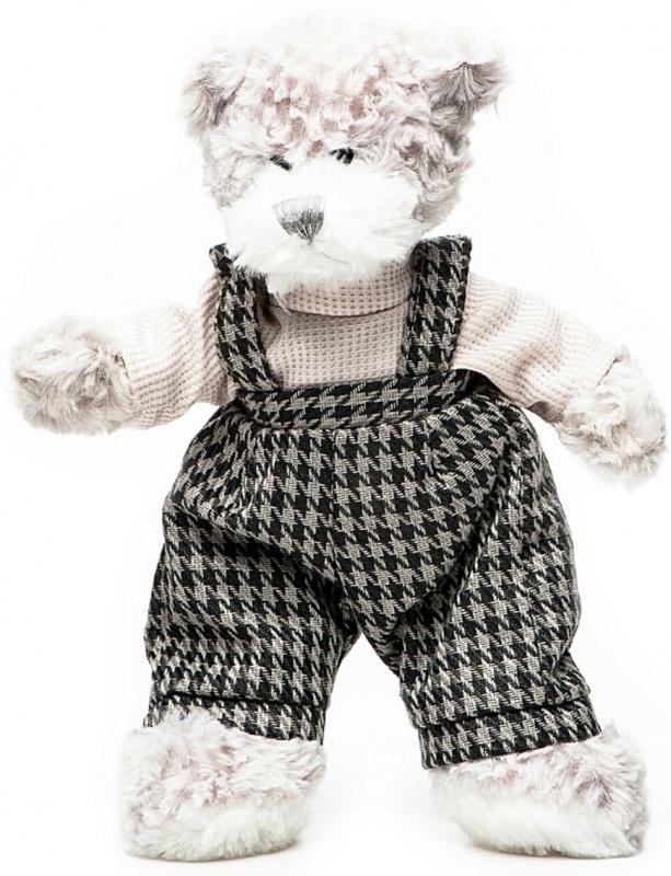 Мягкая игрушка Maxitoys Мишка Бруно в штанишках, 20 см