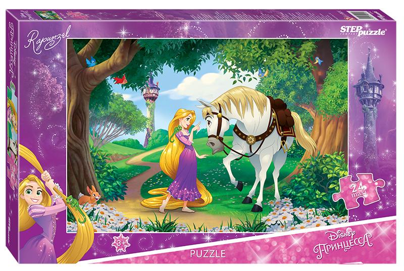 Мозаика puzzle maxi 24 Рапунцель - 2 (Disney)Прекрасная принцесса Рапунцель и ее друзья спешат отправиться навстречу долгожданным приключениям и исполнить свои самые заветные мечты.Пазлы развивают мелкую моторику, образное и логическое мышление, внимание и память.Характеристики пазла:качественное изображение;большие детали пазла (8 ? 8,5 см) (большие пазлы подходят для детей от 3х лет. Они удобные в манипулировании, эргономичны для детской руки, активно развивают мышление, внимание и память);экологически чистые, нетоксичные материалы. (компания Step Puzzle гарантирует высокое качество пазла и точность подгонки).Размер собранного изображения - 50 ? 34,5 см.Для кого?Пазл подходит для детей от 3х лет.Порадуйте свою принцессу ярким пазлом с героями любимого мультфильма Рапунцель.С этим пазлом покупают специальный коврик для комфортной сборки пазла.С этим пазлом покупают специальный клей для пазлов, чтобы скрепить детали мозаики между собой и получить цельную картину.<br>