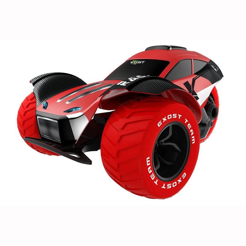Машина р/у Stunt Force (на бат.), 1:18Многих современных детей не удивишь простой радиоуправляемой игрушкой. Но всемирно известный бренд Silverlit - это компания, которая создала больше, чем просто машинку на радиоуправлении. Машина Стант Форс - это игрушка, которая произведет впечатление не только на ребенка, но даже на многих взрослых людей.Stunt Force имеет очень яркий дизайн, это как будто машина будущего. У нее три больших колеса, низкий аэродинамический корпус, горят задние и передние фары. Все элементы машины ярко-красного или черного цвета, что придает ей еще больше яркости.Стант Форс очень легка в управлении, что позволяет еще больше сосредоточиться на игровом процессе. Пульт управления устроен очень просто, так что с ним легко справится даже маленький ребенок. Машина развивает очень приличную скорость для радиоуправляемой игрушки.Лучше всего с такой игрушкой проводить время на улице. Она довольно большая для игры в доме, зато эти габариты, на ряду с размером колес придают ей устойчивости и Stunt Force спокойно справляется с кочками и ямами на земле или асфальте. Машина отлично ловит сигнал пульта, так что ее можно отпускать на довольно большие расстояния. Такая игрушка на самом деле добавит новых красок в жизнь ребенка.<br>
