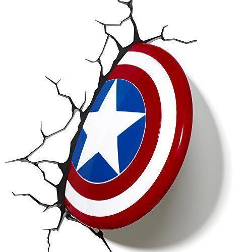 Светильник 3D Captain America ShieldЛидирующаяв области креативных решений и технологий светодекора канадская компания 3DLightFXпроизводит необычные интерьерные светильники, которые нравятся как детям, так и взрослым.Главные достоинства декоративного 3D-светильника – это оригинальный реалистичный дизайн, энергосберегающие светодиодные фонари, компактность, простота в установке, качество и функциональность. Светильники работают от батареек, не нуждаются в подключении к электрической сети, не требуют шнура и могут быть установлены где угодно.Специальная 3D-наклейка с реалистичными элементами создает впечатление, будто светильник выступает из стены, благодаря чему аксессуар прекрасно смотрится в любом интерьере.<br>