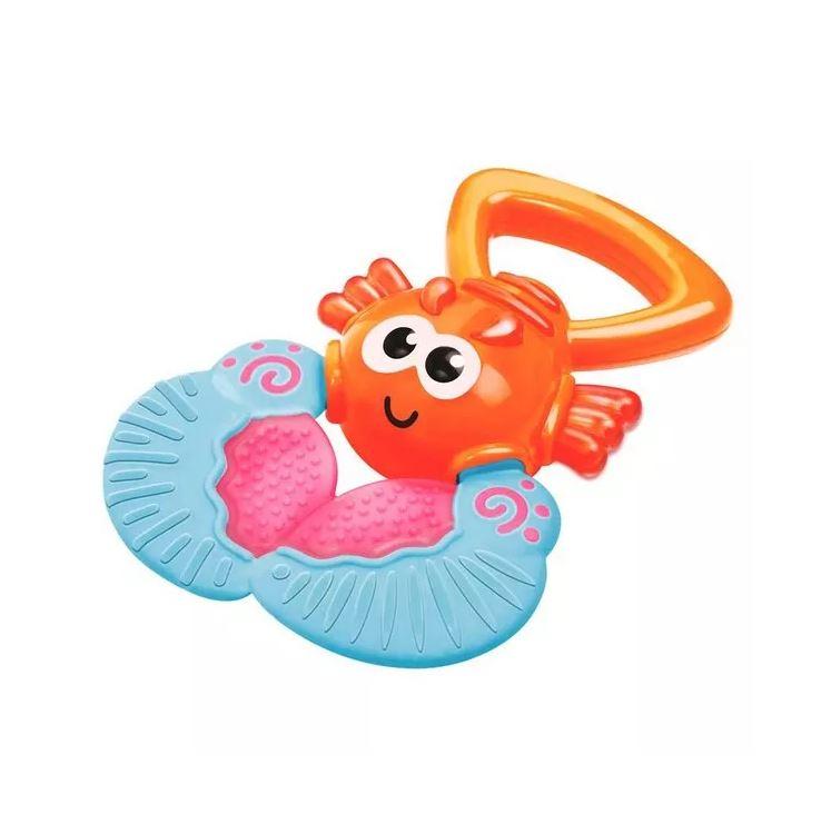 Прорезыватель ЛобстерПрорезыватель Лобстер - это игрушка, позволяющая ребенку облегчить боль, когда у него режутся зубики. Для удобства игрушка оснащена удобной для малыша ручкой. Дизайн прорезывателя позволяет играть с ней и как с обычной игрушкой, выполненной в виде морского обитателя. Лобстер мило улыбается и имеет большие добрые глаза.<br>