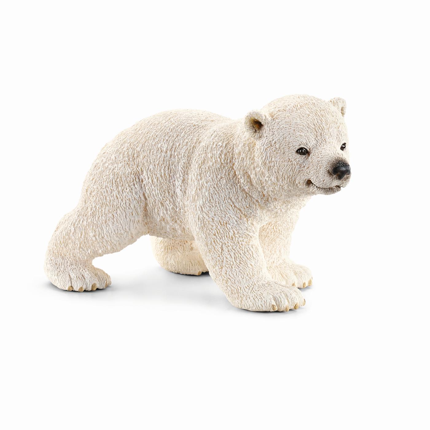 Белый медвеженокФигурка «Белый медвежонок» - очередной шедевр немецкой торговой марки Schleich. Животное является прототипом настоящего белого медведя. Для создания фигурки производитель даже взаимодействовал с Берлинским зоопарком - поэтому изделие получилось настолько реалистичным. Более того, фигура раскрашена вручную: шкура медведя, мордочка и даже взгляд выглядит так, словно перед вами маленькая копия настоящего животного. При этом материал изготовления медвежонка нетоксичен, безопасен для детей и не вызывает аллергию.Игрушки от компании «Шляйх» учат детей заботиться об окружающем мире и любить природу. Фигурки разработаны для юных натуралистов и любителей флоры и фауны. Благодаря им ребенок получает новые полезные знания из области географии и биологии, развивает мышление и внимание. Более того, коллекционером может стать и взрослый.<br>