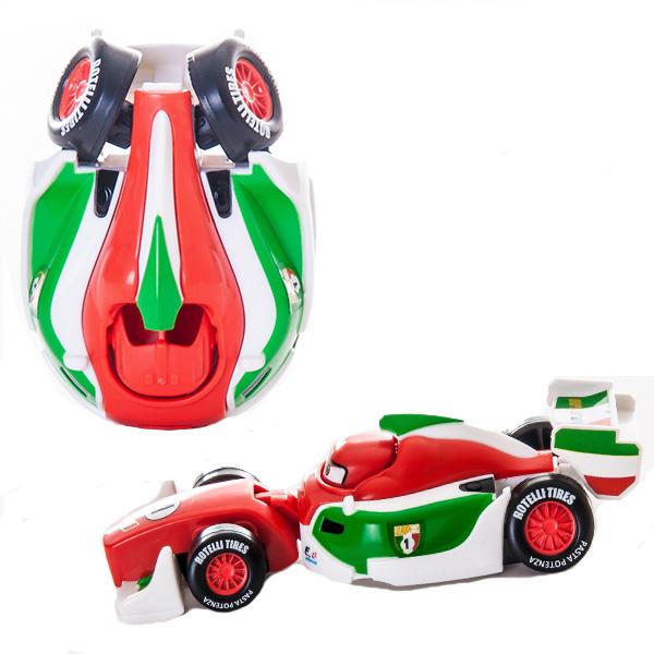 EggStars Яйцо-трансформер ФРАНЧЕСКО БЕРНУЛЛИФранческо Бернулли из мультфильма Тачки-2 - самый быстрый гоночный автомобиль в мире! Он с детства тренировался на знаменитом итальянском треке Монца, и быстро стал чемпионом мира в гонках Формулы 1. Франческо очень самодоволен и стремиться лишь к одной цели - стать победителем Мирового Гран-При. Но у него есть один соперник, который может нарушить эти планы - знаменитый Молния МакКуин!Корпус Франческо окрашен в цвета итальянского флага. Это настоящий автомобиль Формулы Один, быстрый болид, все формы которого продуманны до мелочей.Яйцо-трансформер Франческо Бернулли легко преображается в машинку из мультфильма. Всего несколько движений, и из овала получается красивый гоночный автомобиль!<br>