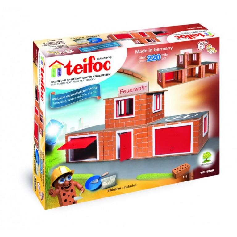 Конструкторы Teifoc Строительный набор Пожарное депо 200 деталей