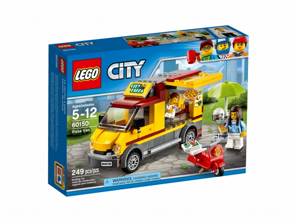 Конструктор Lego City Great Vehicles 60150 Фургон-пиццерия lego lego city фургон и дом на колёсах