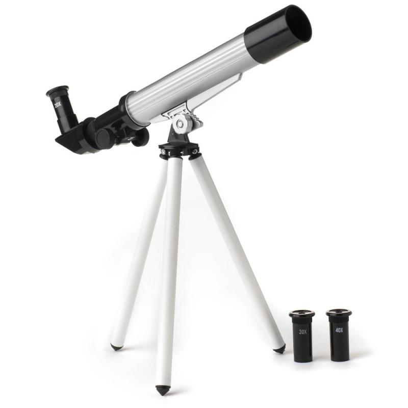 Игрушка Hamleys Телескоп с треногойПознакомтесь с большой медведицей, посмотрите на кратеры на луне. Этот замечательный телескоп позволит детям открыть для себя все о звездах и планетах.<br>