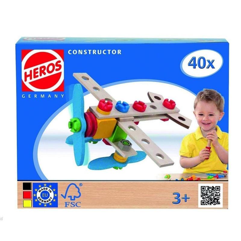 Конструктор 2 в 1 Самолет, 40 деталейКонструктор 2 в 1 Самолет от производителя Heros состоит из 40 деталей, выполненных из качественных дерева и пластика. Для того, чтобы процесс сборки был еще проще, в комплекте также прилагаются различные инструменты. Особенность конструктора заключается в том, что из одного набора элементов возможно воссоздать сразу две разных конструкции. Кроме того, ничто не помешает ребенку проявить фантазию и создать свою собственную модель.<br>