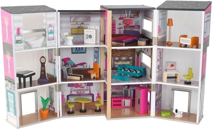 Дом Kidkraft Contemporary Deluxe Townhouse kidkraft кукольный домик kayla
