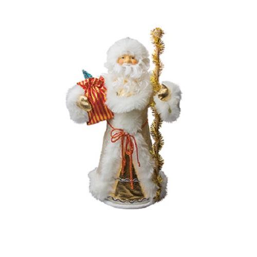 Кукла под елку Дед Мороз, бело-золотистый, 55 см.Новогодний сувенир Дед Мороз от бренда Marko Ferenzo предназначен для дополнения новогоднего декора помещения и является одним из основных атрибутов праздника. Данный Дед Мороз может стоять около елки среди подарков, украшать офис, а также послужить прекрасным сувениром. Фигурка представлена в превосходном исполнении, на фоне наряженной елки она будет смотреться особенно эффектно.<br>