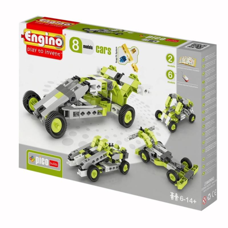 Детский конструктор Pico Builds Inventor - Автомобили, 8 моделейКонструктор для начинающих обновленной серии Pico Builds.  Позволит вашему ребенку собрать 8 разных автомобилей: 2 модели - по инструкции в комплекте, плюс 6 моделей - по онлайн-инструкции.<br>