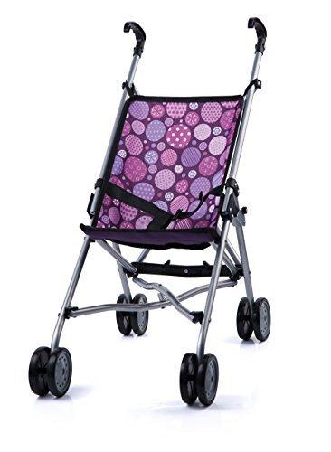 Коляска-трость для кукол фиолетоваяЭто хорошая и крепкая коляска для куклы багги. Красивый дизайн гарантирует хорошее настроение. Благодаря встроенному поясу, куклы или плюшевые игрушки могут спокойно сидеть.<br>