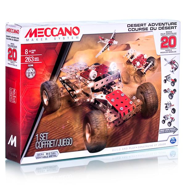 Игрушка Meccano Набор приключения в пустыне (20 моделей)  игрушка meccano набор приключения в пустыне 20 моделей meccano