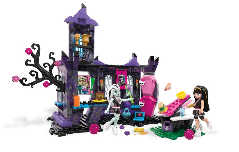 Конструктор Монстер Хай - CreepateriaБлочный конструктор Школьный страхотерий из серии игрушек Monster High, изготовленный популярным производителем Mega Bloks, позволяет собрать сказочное сооружение, где могут подкрепиться симпатичные девочки-монстры. Набор представлен множеством деталей для сборки здания кафе, деталями-аксессуарами и двумя фигурками модных девочек-монстров. Дизайн здания: его цвет и форма, наличие дополнительных черт, таких как сухое цветущее дерево и стилизованные решетки на окнах, создают чудесную атмосферу. Набор дополнен игровыми аксессуарами: посудой, сумочками, другими предметами, которые можно вставить в руки фигуркам. В шкафчике, прикрепленном к стене кафе, имеется зеркало. Монстры-девочки одеты в школьную форму, на ногах у них модная обувь на высокой платформе. Осанка и выражение лица не дадут спутать этих девочек с другими персонажами. У фигурок сгибаются ножки в коленных суставах, что позволяет им принимать различные положения.Собирая конструктор и моделируя жизнь монстров, ни одна девочка не заскучает!Возраст: от 6 летГерой: Монстр Хай / Monster HighДля девочекКоличество деталей: 280 шт.Комплектация: детали конструктора, 2 мини-фигурки.Материалы: пластик.Размер упаковки: 36 х 5 х 29 см.Вес: 630 гр.<br>