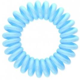 Резинка для волос Beauty Bar, светло-голубая резинка спиралька для волос