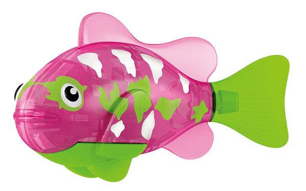 Тропическая РобоРыбка Собачка (розовая)Инновационная высокотехнологичная игрушка. Активируется в воде. Имитирует движения и повадки рыбы. Электромагнитный мотор позволяет рыбке двигаться в 5 направлениях. При погружении в аквариум или другую емкость с водой, РобоРыбка начинает плавать, опускаясь ко дну и поднимаясь к поверхности воды. Игрушка работает от двух алкалиновых батареек А76 или RL44, которые входят в комплект (две установлены в игрушку и 2 запасные).<br>