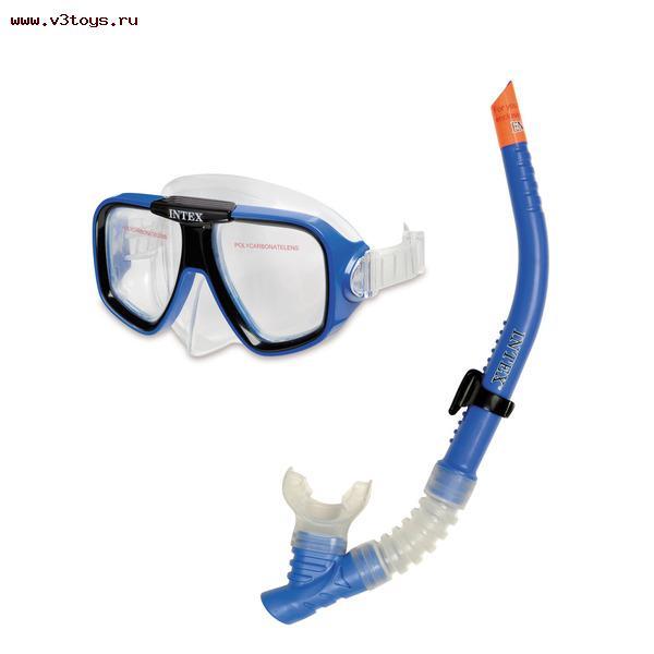Набор Reef Rider Swim Set (маска+трубка)Набор Маска и трубка дыхательная Reef Rider поможет вашему ребенку расмотреть морское дно! Маска сделана из безопасной поликарбонатной линзы со специальным покрытием на линзах, чтобы предотвратить их запотевание. Ободок на линзах выполнен из мягкого латекса, который обеспечивает плотное прилегание маски к лицу и не вызывает аллергической реакции. Дыхательная трубка имеет мягкий эластичный загубник, который может свободно поменять своё положение.<br>