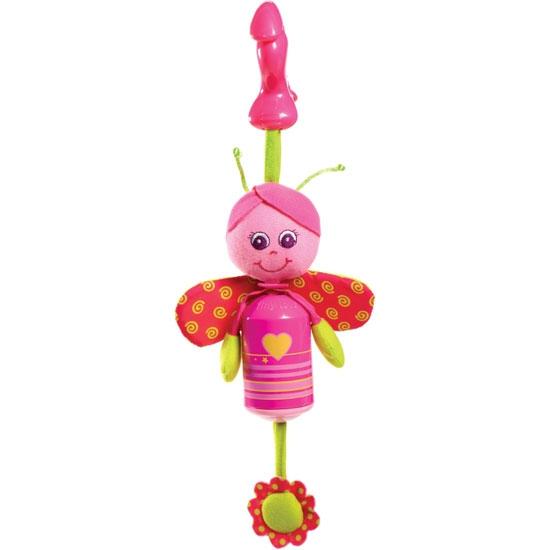Подвеска-колокольчик Бабочка СофиРазвивающая игрушка-подвеска «Бабочка Софи» предназначена для малышей. В первые годы жизни ребенок нуждается в разнообразных сенсорных стимулах: ярких красках, забавных звуках. По этой причине изделие обладает красочным дизайном и оснащено маленьким колокольчиком, что позволяет использовать его в качестве погремушки.Возраст: любой возрастДля мальчиков и девочекМатериалы: пластик, текстиль с набивкой синтетическим волокном.Размер игрушки: 20 х 5 х 4.5 см.<br>