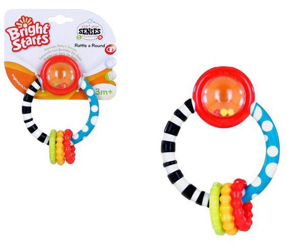 Прорезыватель Колечко* Разноцветные колечки с различными формами * Погремушка * Высококонтрастная игрушка развивает зрение малыша<br>