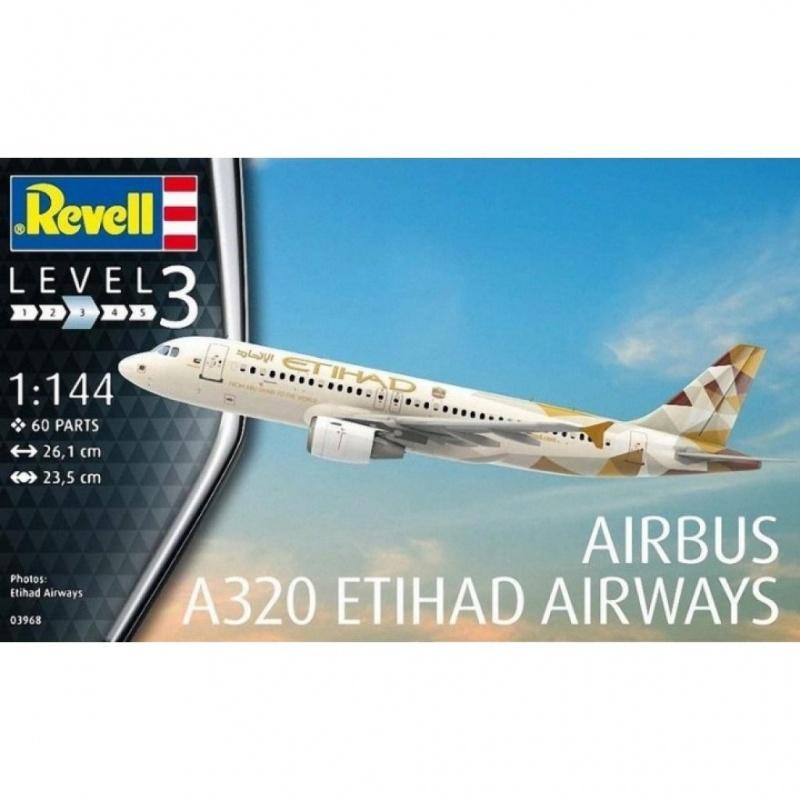 Сборная модель Revell Самолет Airbus A320 Etihad сборная модель revell самолет f4u 5 corsair