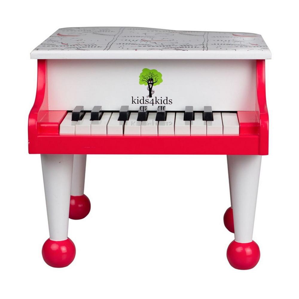 Волшебные ноты детский классический рояль, Kids4kidsЗамечательный рояль Волшебные ноты станет для ребенка первым музыкальным инструментом, с которым он сделает первые шаги в музыке. Яркий рояль непременно вызовет интерес малыша к занятию музыкой. Игрушка способствует развитию умственных способностей, мелкой моторики и формирует чувство прекрасного. Рояль имеет 18 клавиш и 1,5 октавы. Этого достаточно для знакомства с нотами и чтобы малыш разучил несколько простых детских песенок. Игрушка изготовлена из высококачественных натуральных материалов.<br>