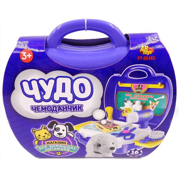 Игровой набор Чудо-чемоданчик - Магазин для домашних питомцевИгровой набор Магазин для домашних питомцев из серии Чудо-чемоданчик от производителя ABtoys позволит ребенку на некоторое время ощутить себя владельцем настоящего зоомагазина. Помимо различных аксессуаров, необходимых для ухода за животными, в наборе также имеется игрушечный щенок. Так что ребенок получит еще и лучшего друга.<br>