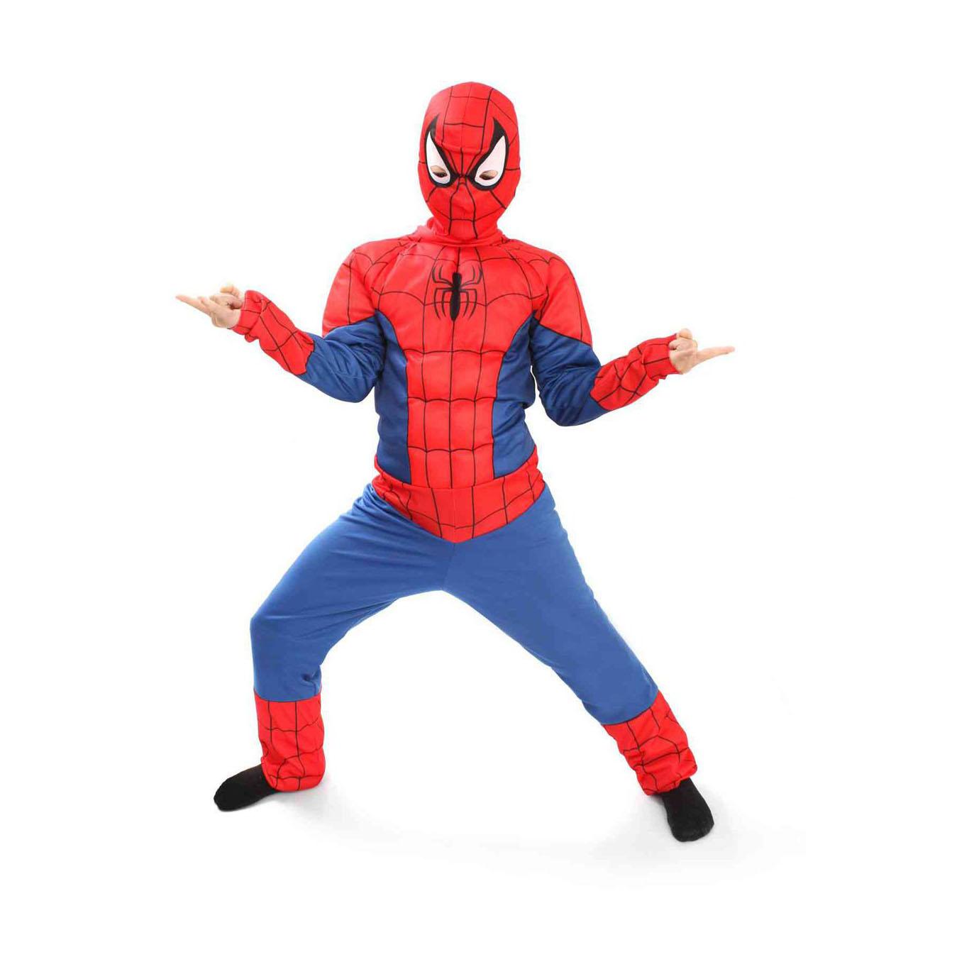Карнавальный костюм Человек Паук арт.5092 р34Герой всех подростков человек-паук нравится и Вашему сыну? Тогда купите ему этот карнавальный костюм! И Ваш малыш будет с нетерпением ждать следующей карнавальной ночи. Детский карнавальный костюм Человек-паук выполнен из трикотажных тканей, который идеально будет смотреться на любом мальчишке. В комплект костюма входит комбинезон и маска. Завершает образ имитация мускул, которая придает костюму правдоподобный и захватывающий образ. Российский производитель карнавальных костюмов для детей Батик заключил лицензионное соглашение с Уолт Дисней Компани на производство и продажу карнавальных костюмов героев из анимационных мультфильмов.<br>