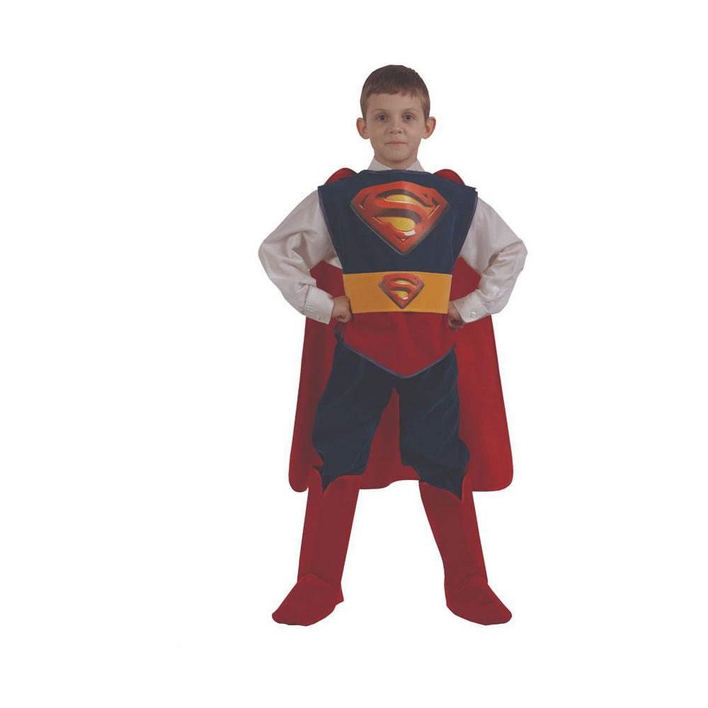 Супермен (зв.маскарад) р.28 406В наше время трудно найти ребенка, который равнодушен к супергероям. Ведь они всегда побеждают зло и спасают людей. Неудивительно, что каждый ребенок хочет быть похожим на своего кумира, и с нашим костюмом Супермена это возможно! Яркий красно-синий карнавальный костюм пошит из бархата. В нем любой мальчишка обязательно почувствует себя супергероем!<br>