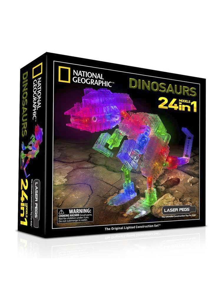 Конструктор Laser Pegs Nat Geo Динозавры  laser pegs конструктор динозавры 24 в 1
