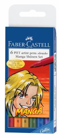Капиллярные ручки MANGA, набор цветов, в футляре,  6 шт.Капиллярные ручки МАНГА в наборе из нескольких ярких цветов – отличный выбор для дошкольника, ученика младшей школы, а также для любителей рисовать. Ручки с тонким стержнем оставляют насыщенную красочную тонкую линию, позволяя не только создавать рисунки и иллюстрации, но и закрашивать контур или писать. Набор непременно понравится ценителям японского стиля рисунка «манга», так как позволяет прорисовывать любые, даже самые мелкие детали и черты лица персонажей. Капиллярные ручки MANGA с разноцветными чернилами не токсичны и абсолютно безопасны, поэтому подходят для малышей.<br>