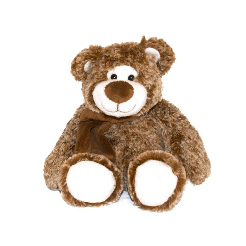Мягкая игрушка Мишка Дикки, 28 смМягкая игрушка Мишка Дикки от бренда Button Blue имеет высоту в 28 см. Мишка приятный на ощупь и окрашен в классический светло-коричневый цвет. Но его мордочка и некоторые части тела белые, что придает медвежонку некую сказочность и загадочность. Шарм игрушке добавляет небольшой шарф, обмотанный вокруг шеи.<br>