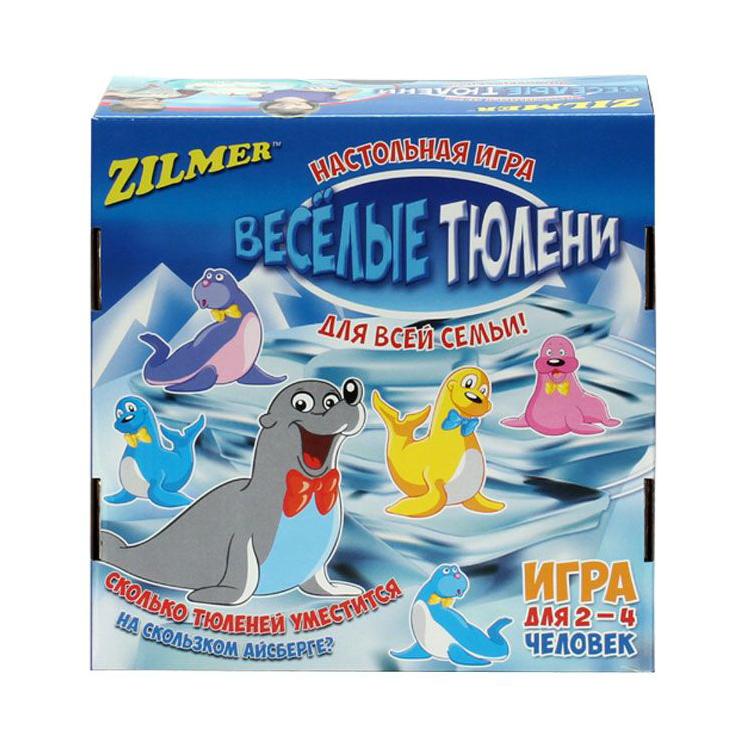 Zilmer настольная игра для детей и всей семьи Весёлые тюлениРазместите фигурки тюленей на айсберге так, чтобы они не упали. Но будьте аккуратны: при любом неосторожном движении животные могут скатиться со скользкого айсберга. Если во время вашего хода упадет больше, чем один тюлень, вы должны забрать все упавшие фигурки себе.Ваша колония тюленей растёт!Кто же из игроков первым разместит всех своих тюленей на айсберге?<br>