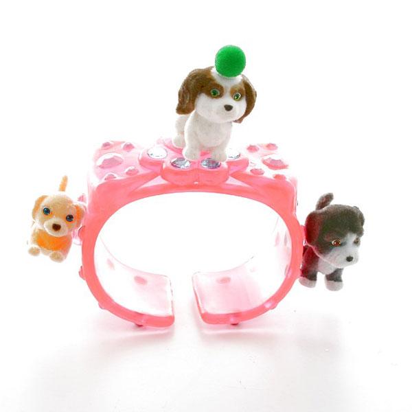 Купить Puppy in my pocket Браслет с флок щенками в ассортименте