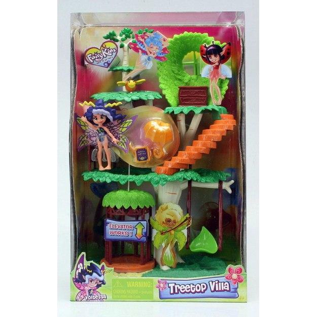 Игровой набор Фея Вольтесса и Домик-деревоИгровой набор FairyKins Фея Вольиесса и Домик-дерево от Chap Mei - это сказочное жилище юных эльфов. Набор включает в себя фигурки волшебных героев и дерево, на котором они живут.Ребенку понравится такой набор: на необычном, нереальной красоты дереве есть лифт, на котором можно спускать и поднимать фигурки, а также ступеньки на спиральной лестнице. Теперь малыш может вволю применять свою богатую фантазию, придумывать сказрчные истории и разыгрывать сюжеты для этих персонажей. Игрушки данного набора исполнены в превосходном качестве, у каждой из фигурок эльфов двигаются конечности и голова.<br>