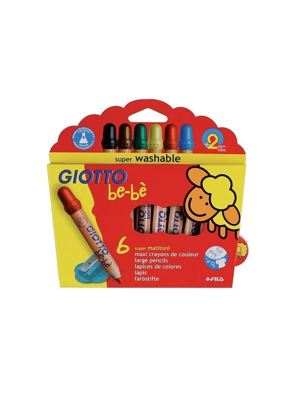 Карандаши детские Giotto 466400 FILAнабор из 6 цветных карандашей с точилкой и защитным колпачком, которые оставляют очень четкие и насыщенные линии. Они изготовлены специально для школы и детского творчества, не содержат вредных примесей и не вызывают аллергических реакций. Защитное покрытие грифеля повышает прочность изделия. Специальная эргономичная круглая форма позволяет долго рисовать без устали.<br>