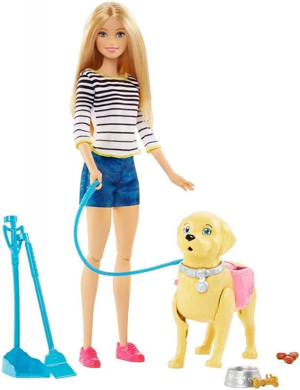 Barbie Игровой набор с куклой Прогулка с питомцем barbie basics с рук