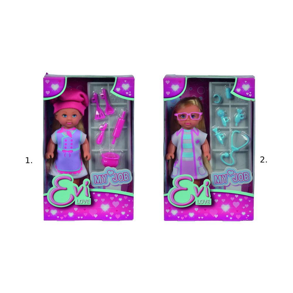 Кукла Еви, набор Любимая работа, 12смКукла с аксессуарами Моя любимая работа - очаровательная маленькая леди, которая очень понравится каждой девочке. У нее большие голубые глазки с длинными ресничками, маленький носик и блестящие светлые волосы. Одета кукла в очаровательное светлое платьице. В комплекте представлены дополнительные игровые аксессуары, выполненные из пластика.Внимание! Товар представлен в ассортименте. Цена указана за 1 игрушку. Номер желаемой куклы указывайте в комментарии к заказу.<br>