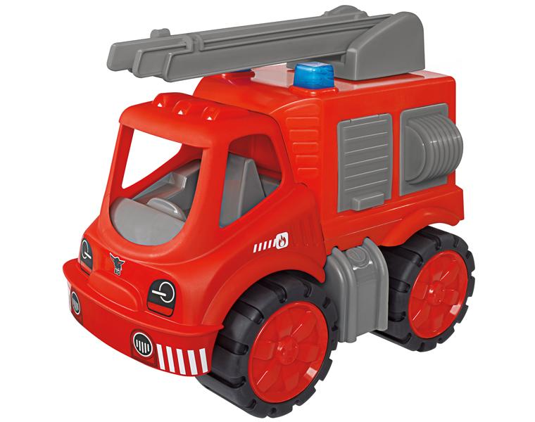 Пожарная машина Big Power WorkerЯркая машина Big Power Worker внушительных размеров отлично подойдет для игры как дома, так и на улице! Вашему ребенку понравится, что в ней можно перевозить все необходимые предметы для тушения пожара - ведра, лопатки, инструменты, ведь в кузове машины располагаются несколько отсеков. Кроме того, на кузове находится лестница, которая поворачивается вокруг своей оси. Широкие прорезиненные колеса позволят машине проехать по любой поверхности. Длина выдвижной пожарной лестницы составляет 41 см.<br>