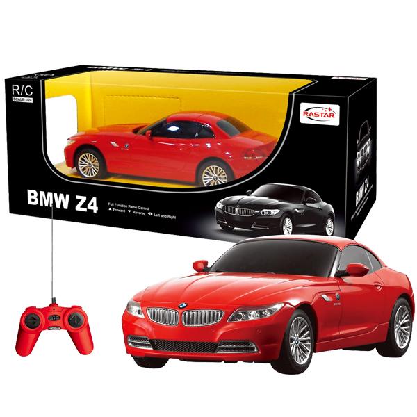Машина р/у 1:12 BMW Z4Модель автомобиля BMW Z4 на радиоуправлении выполнена в масштабе 1/12. Управлять машинкой очень легко: специальной формы пульт удобно ложится в ладонь, а назначения всех кнопок интуитивно понятны.Машинка может двигаться вперед и давать задний ход, поворачивать вправо или влево. Во время езды у нее можно включить фары.<br>